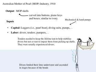 Australian Mother of Pearl (MOP) Industry, 1910