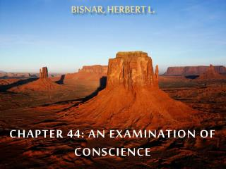 Chapter  44: An examination of Conscience