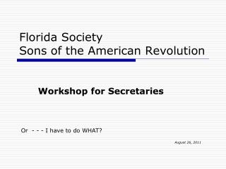 Florida Society Sons of the American Revolution