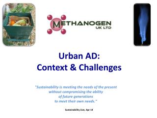 Urban AD:  Context & Challenges