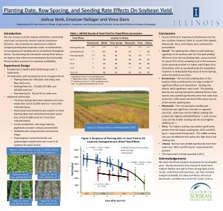 Planting Date, Row Spacing, and Seeding Rate Effects On Soybean Yield