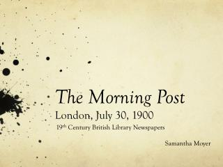 The Morning Post London, July 30, 1900