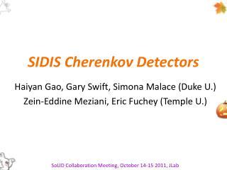 SIDIS Cherenkov Detectors