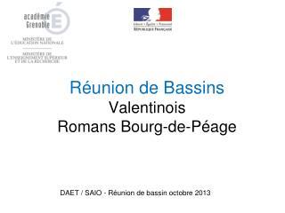 Réunion de Bassins Valentinois Romans Bourg-de-Péage