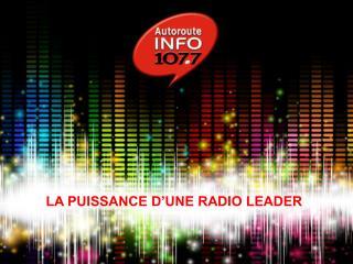 LA PUISSANCE D'UNE RADIO LEADER