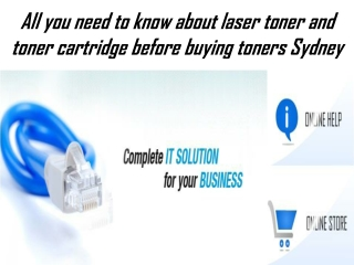 All you need to know about laser toner and toner cartridge