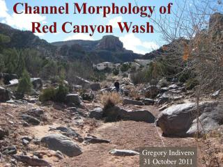 Channel Morphology of Red Canyon Wash