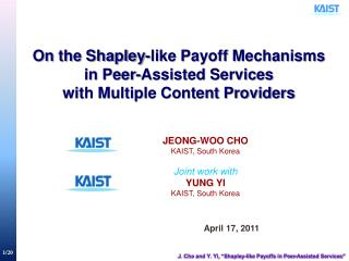 On the Shapley-like Payoff Mechanisms  in Peer-Assisted Services  with Multiple Content Providers