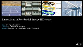 Innovations in Residential Energy Efficiency