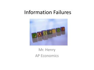 Information Failures