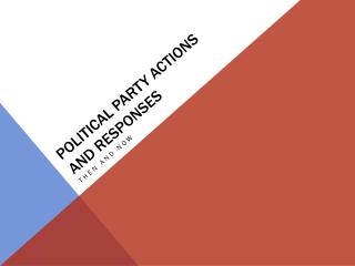 Political Party Actions and Responses