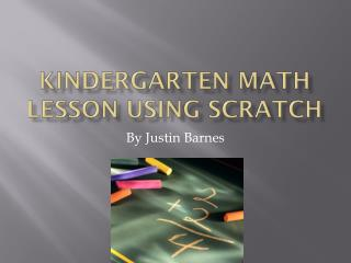 Kindergarten Math lesson using scratch
