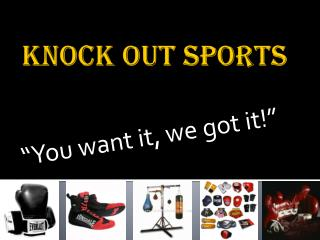 Knock out sports