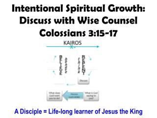 Intentional Spiritual Growth: Discuss with Wise Counsel Colossians 3:15-17