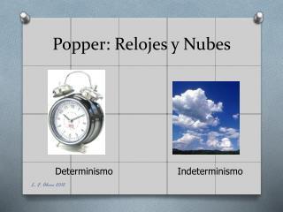 Popper: Relojes y Nubes