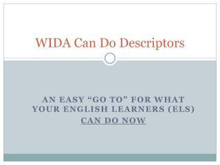 WIDA Can Do Descriptors