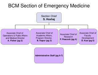 BCM Section of Emergency Medicine