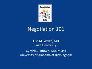 Negotiation 101