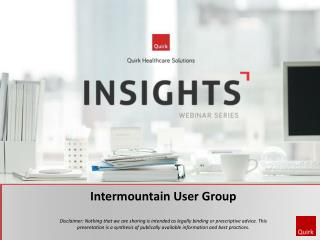 Intermountain  User Group