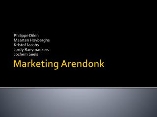 Marketing Arendonk