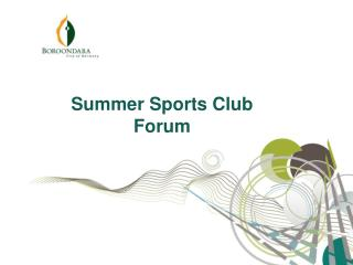 Summer Sports Club Forum