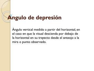 Angulo de depresi n