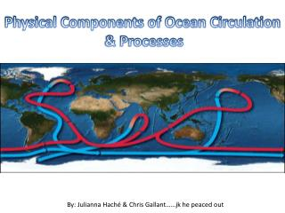Physical Components of Ocean Circulation  & Processes