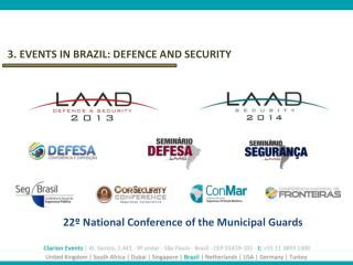 3.  EVENTS IN BRAZIL: DEFENCE AND SECURITY