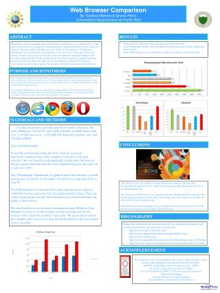 Web Browser Comparison By: Gustavo Marrero & Ignacio Pérez