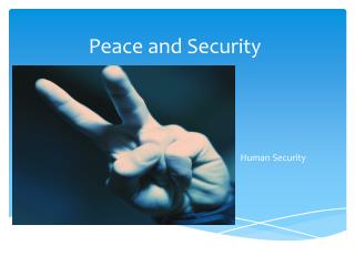 Peace and Security
