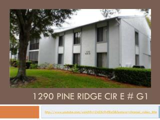 Tarpon Springs Short Sale - 1290 Pine Ridge Cir E # G1