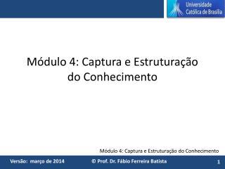 Módulo 4: Captura e Estruturação do Conhecimento