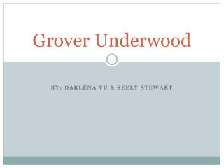 Grover Underwood
