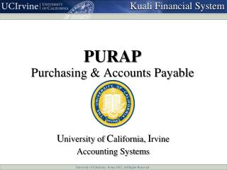 PURAP Purchasing & Accounts Payable