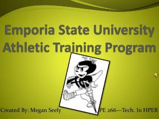 Emporia State University Athletic Training Program
