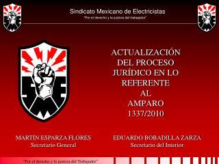 ACTUALIZACIÓN DEL PROCESO JURÍDICO EN LO REFERENTE  AL  AMPARO  1337/2010
