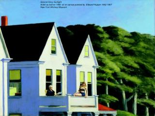 Second Story Sunlight Soleil au balcon 1960  oil on canvas painted by  Edward Hopper 1862-1967