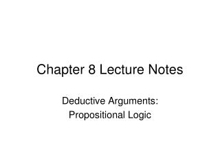 Chapter 8  Lecture Notes