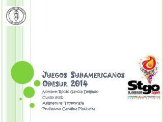 Juegos  Sudamericanos Odesur  2014