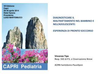 VII Edizione Capri 28-30  aprile 20 14 Hotel  Syrene Presidente LUIGI MARTEMUCCI