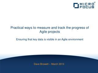 Dave Browett – March 2013