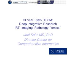 "Clinical Trials, TCGA:  Deep Integrative Research RT, Imaging, Pathology, "" omics """