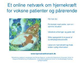 Et online netværk om hjernekræft for voksne patienter og pårørende
