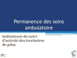 Permanence des soins ambulatoire