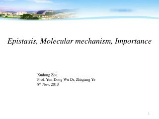 Epistasis, Molecular mechanism, Importance