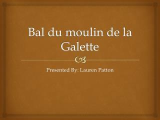 Bal  du  moulin  de la  Galette