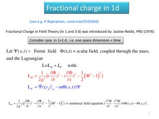 Fractional charge in 1d