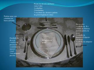 Forchetta da dx a sx: 1-da II o da  pesce(con  scanalatura in  mezzo) 2-da I