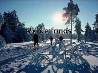 Ski de fonds