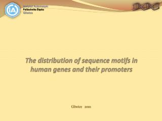 The distribution of sequence motifs in human genes and their promoters